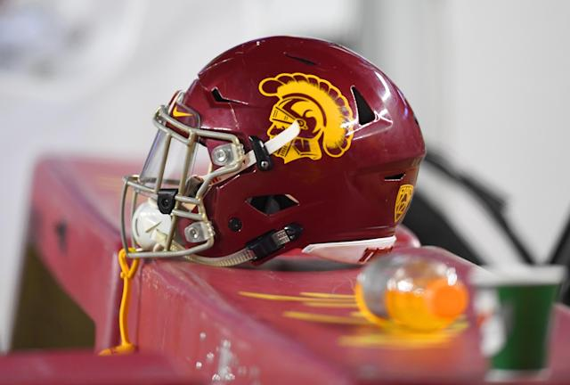 Bernard Schirmer, who was banned from JUCO football after punching out a referee during a game, will soon be wearing a USC helmet as a redshirt sophomore. (Getty Images)