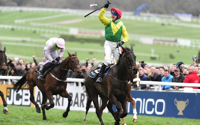Sizing John after winning the Cheltenham Gold Cup - Rex Features