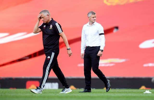 Chris Wilder was unhappy by Sheffield United's display at Old Trafford (Michael Regan/NMC Pool)
