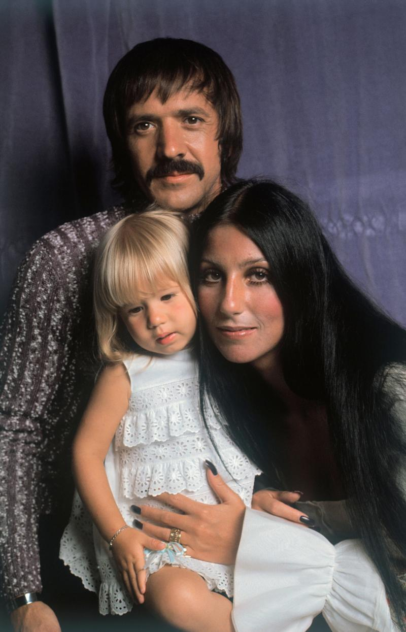 (Original Caption) New York, New York: Recent photo of Sonny and Cher (Bono) with their daughter Chastity Bono.
