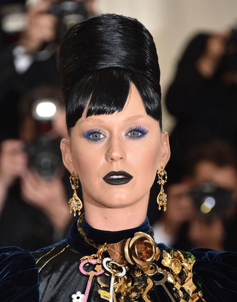 "<p>There were mixed reactions to Katy Perry's beauty look at the Manus x Machina: Fashion In An Age Of Technology Costume Institute Gala. That night she debuted the ""Sphynx"" lipstick from her Katy Kat line for CoverGirl cosmetics. <i>(Photo by John Shearer/Getty Images)</i><br></p>"