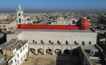 A view shows the Grand Immaculate Church, ahead of the planned visit of Pope Francis to Iraq, in Qaraqosh