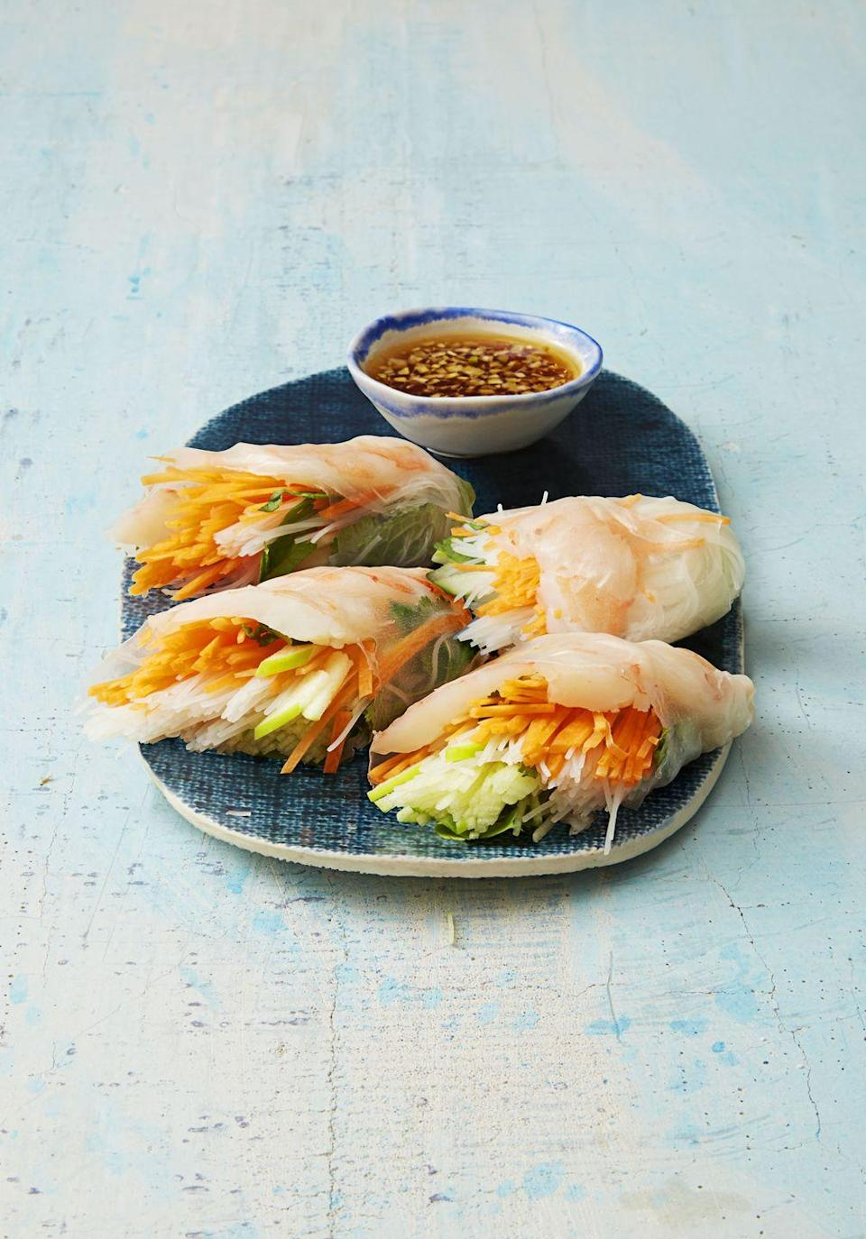 """<p>100x better than anything you would find in the cafeteria. <em>Trust. </em></p><p><a href=""""https://www.goodhousekeeping.com/food-recipes/a38851/vietnamese-shrimp-and-vegetable-rolls-recipe/"""" rel=""""nofollow noopener"""" target=""""_blank"""" data-ylk=""""slk:Get the recipe for Vietnamese Shrimp and Vegetable Rolls »"""" class=""""link rapid-noclick-resp""""><em>Get the recipe for Vietnamese Shrimp and Vegetable Rolls »</em></a> </p>"""