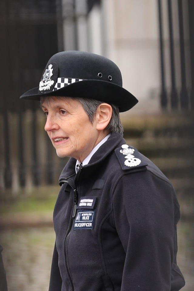 Metropolitan Police boss Dame Cressida Dick previously said officers should not take the knee while on duty at Black Lives Matter protests