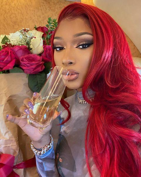 """<p>Red-haired Megan thee Stallion returned for 2021, this time with a vibrant all-over tone.</p><p><a href=""""https://www.instagram.com/p/CLStBrDF1tN/"""" rel=""""nofollow noopener"""" target=""""_blank"""" data-ylk=""""slk:See the original post on Instagram"""" class=""""link rapid-noclick-resp"""">See the original post on Instagram</a></p>"""