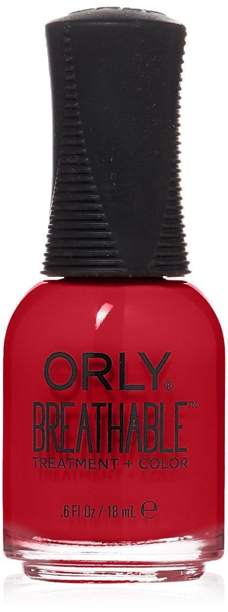 <p>You can never go wrong with a classic cherry red like the <span>Orly Breathable Nail Color in Love my Nails</span> ($8).</p>