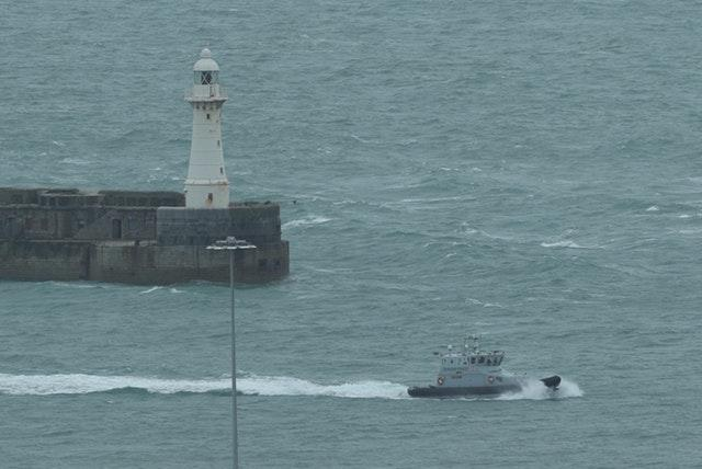 Border Force patrol boat Speedwell returning to Dover Harbour