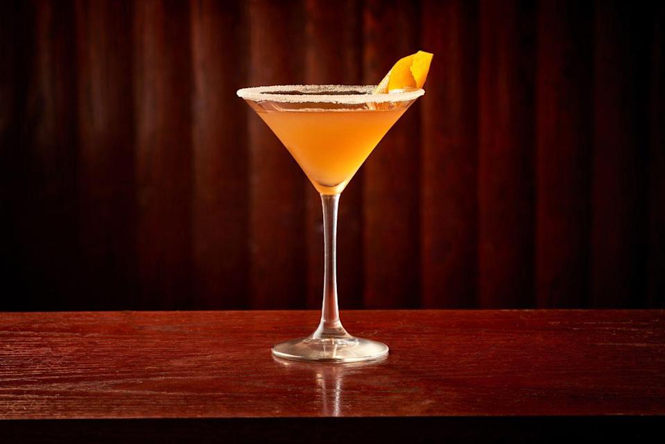 """<p><strong>Ingredients</strong></p><p>1 oz Luxardo Amaretto<br>2 oz Grand Marnier<br>.5 oz lemon juice</p><p><strong>Instructions</strong></p><p>Combine all ingredients in a shaker with ice and shake hard. Strain into a martini glass garnished with a sugar rim.</p><p><em>By Erin Ward of <a href=""""http://www.carminesnyc.com/"""" rel=""""nofollow noopener"""" target=""""_blank"""" data-ylk=""""slk:Carmine's"""" class=""""link rapid-noclick-resp"""">Carmine's</a> in New York City, Atlantic City, NJ, Washington, D.C. and Las Vegas</em></p><p><strong>More:</strong> <a href=""""https://www.townandcountrymag.com/leisure/drinks/g29477497/best-amaretto-drinks/"""" rel=""""nofollow noopener"""" target=""""_blank"""" data-ylk=""""slk:Delicious Amaretto Cocktails"""" class=""""link rapid-noclick-resp"""">Delicious Amaretto Cocktails</a><br></p>"""