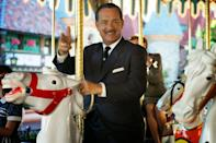 """<p>Cast members will never point. Apparently, Walt Disney thought that pointing could be misconstrued as rude, so to steer guests in the right direction, cast members will show the way with two fingers, which has been dubbed the """"Disney point."""" (Demonstrated here by Tom Hanks in <em>Saving Mr. Banks</em>.)</p>"""