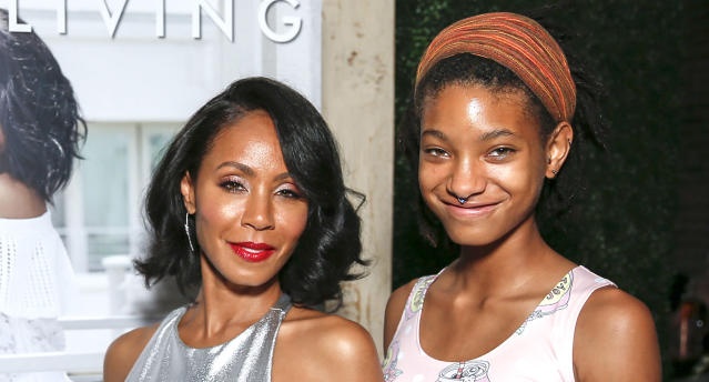 Jada Pinkett Smith and Willow Smith in 2017. (Photo: Rochelle Brodin/Getty Images for Haute Living)