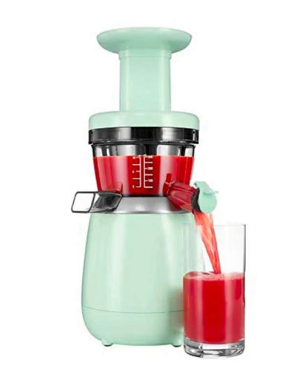 "Whether they're making celery juice, almond milk, or sorbet, the health-conscious birthday girl will be stoked to add this compact juicer to her <a href=""https://www.glamour.com/gallery/kitchen-organization-ideas?mbid=synd_yahoo_rss"" rel=""nofollow noopener"" target=""_blank"" data-ylk=""slk:kitchen setup"" class=""link rapid-noclick-resp"">kitchen setup</a>. Chic, wholesome gadgets on deck. $299, Amazon. <a href=""https://www.amazon.com/Hurom-HP-Slow-Juicer-White/dp/B06XB58WV8/ref=sr_1_4"" rel=""nofollow noopener"" target=""_blank"" data-ylk=""slk:Get it now!"" class=""link rapid-noclick-resp"">Get it now!</a>"