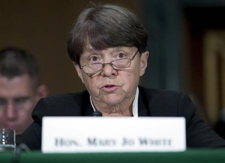 SEC Chair White testifies at a Senate Banking, Housing and Urban Affairs Committee hearing on Capitol Hill