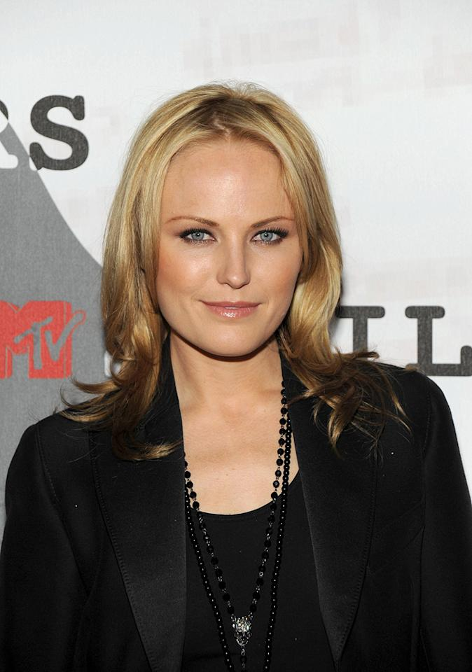 """<a href=""""http://movies.yahoo.com/movie/contributor/1808422842"""">Malin Akerman</a> at the MTV screening party for <a href=""""http://movies.yahoo.com/movie/1808406490/info"""">Watchmen</a> in West Hollywood - 02/18/2009"""