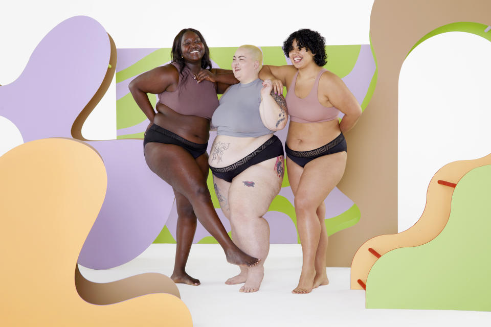 Period underwear brand Thinx just launched a plus-size range with sizes up to 4X (Photo via Thinx)
