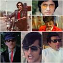 From Raaj Kumar to Rajesh Khanna, Dharmendra to Vinod Khanna, Shashi Kapoor to Amitabh Bachchan, Bollywood's most successful actors during 1960s and '70s boasted of some uber cool looks with sunglasses. (Clockwise) Don (1978), Apna Desh (1972), Guddi (1971), Mere Apne (1971), Lal Patthar(1971) and Fakira (1976)