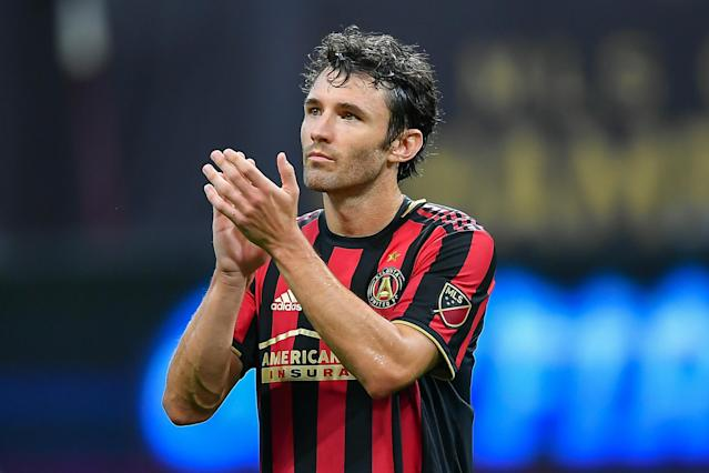 Atlanta United's Michael Parkhurst is retiring at season's end. (Rich von Biberstein/Getty)