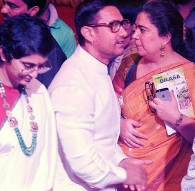 Aamir Khan, Kiran Rao and Reena Dutta