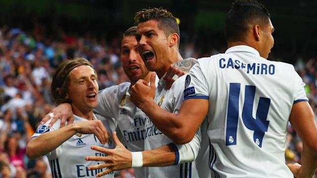 Real Madrid forward Cristiano Ronaldo hailed his disputed record of 400 goals for the club after being honoured by Florentino Perez.