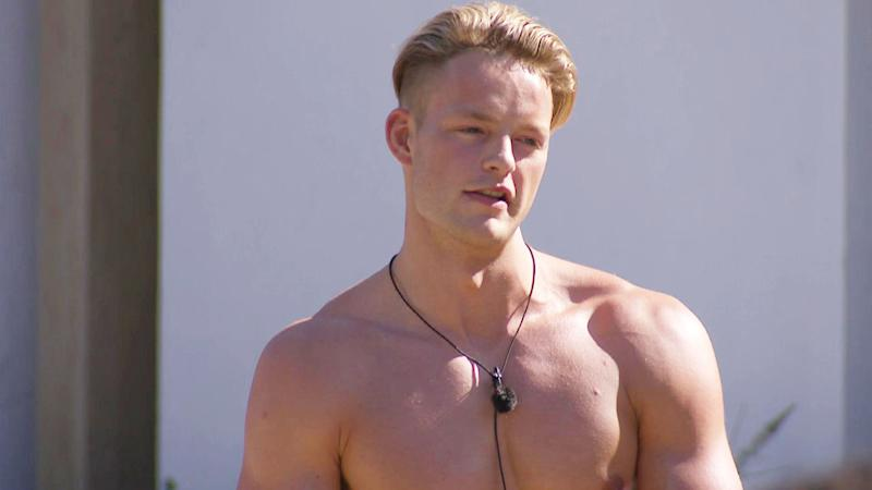 Ollie on his first day in the Love Island villa (Photo: ITV/Shutterstock)