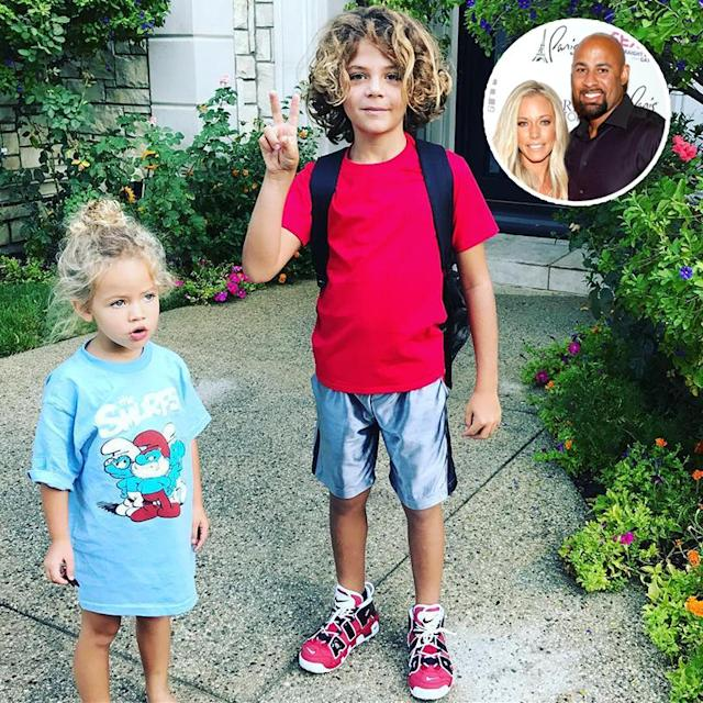 "<p>This was captured by Kendra Wilkinson on the ""2nd day of 2nd grade,"" according to the reality star. ""GO HANK GO!"" Smurfs lover Alijah has a few years before her first-day pic — she's only 3. (Photos: <a href=""https://www.instagram.com/p/BYYd_ihgoIE/?taken-by=kendra_wilkinson_baskett"" rel=""nofollow noopener"" target=""_blank"" data-ylk=""slk:Kendra via Instagram"" class=""link rapid-noclick-resp"">Kendra via Instagram</a>/Getty Images)<br><br></p>"