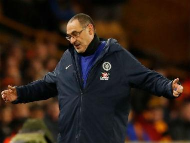 Premier League: Maurizio Sarri worried by lack of response as Chelsea squander lead to lose against Wolves