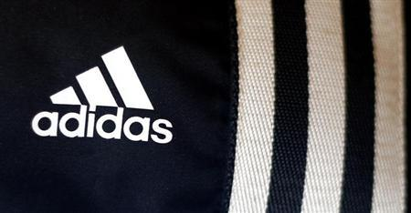The logo of Adidas is pictured in a store in Munich