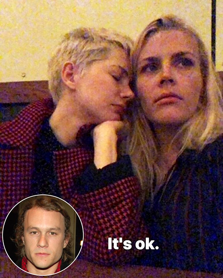 "<p>One of their sweetest moments happened earlier this week when Philipps flew to be by Williams' side on the 10-year anniversary of Heath Ledger's death.  On Monday Philipps, 38, shared a <a rel=""nofollow"" href=""https://www.instagram.com/p/BeRi4NShZlK/?taken-by=busyphilipps"">photo</a> of her view of the sunset from an airplane with a red heart emoji. Then, hours later, she posted a follow-up selfie of her with <em>Dawson's Creek</em> costar Williams.  ""It's ok,"" Philipps wrote along with the picture that showed the <em>All the Money in the World</em> star, 37, with her eyes closed and leaning on her longtime confidant.  Philipps was with Williams the night Ledger died and even stayed with the actress and her mom the next few days. Williams and Ledger made Philipps and their <em>Brokeback Mountain</em> costar Jake Gyllenhaal godparents to their only daughter, Matilda Rose. </p>"