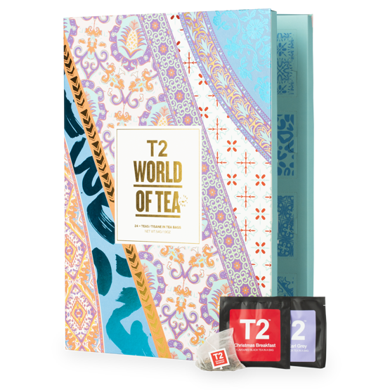 """<p>t2tea.com</p><p><strong>$30.00</strong></p><p><a href=""""https://go.redirectingat.com?id=74968X1596630&url=https%3A%2F%2Fwww.t2tea.com%2Fen%2Fus%2Fgifts%2Fadvent-calendar%2Fworld-of-tea%253A-teabag-advent-calendar-T145AK610.html&sref=https%3A%2F%2Fwww.townandcountrymag.com%2Fleisure%2Fdrinks%2Fg13408658%2Ftea-advent-calendars%2F"""" rel=""""nofollow noopener"""" target=""""_blank"""" data-ylk=""""slk:Shop Now"""" class=""""link rapid-noclick-resp"""">Shop Now</a></p><p>You may not be traveling as much this year, but you can still sip like a globetrotter with this calendar filled with 24 tea blends inspired by world flavors, with options like Go Go Goa, New York Breakfast, and China Jasmine. This calendar pre-measures each day into handy tea bags, but there's also a <a href=""""https://go.redirectingat.com?id=74968X1596630&url=https%3A%2F%2Fwww.t2tea.com%2Fen%2Fus%2Fgifts%2Fadvent-calendar%2Fworld-of-tea%253A-loose-leaf-advent-calendar-T145AK609.html&sref=https%3A%2F%2Fwww.townandcountrymag.com%2Fleisure%2Fdrinks%2Fg13408658%2Ftea-advent-calendars%2F"""" rel=""""nofollow noopener"""" target=""""_blank"""" data-ylk=""""slk:loose leaf version"""" class=""""link rapid-noclick-resp"""">loose leaf version</a>. </p>"""