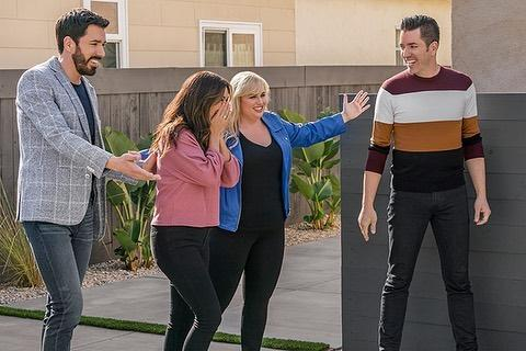 Rebel Wilson and the 'Property Brothers,' Drew and Jonathon Scott, unveil Nicole Leal's backyard transformation on HGTV's 'Celebrity IOU'