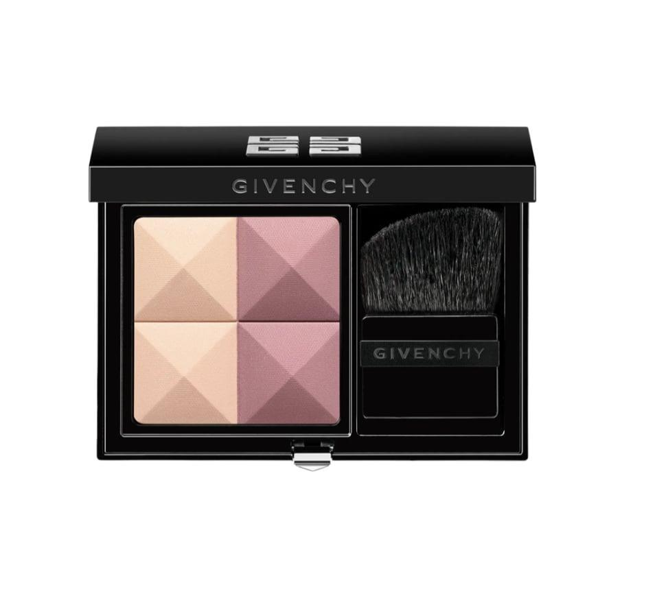 <p>Swirling together the warm quads of <span>Givenchy Prisme Blush Highlight &amp; Structure Powder Blush Duo</span> ($46) will leave your cheeks flushed with flecks of gold.</p>