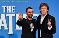 Surviving Beatles Ringo Starr and Paul McCartney
