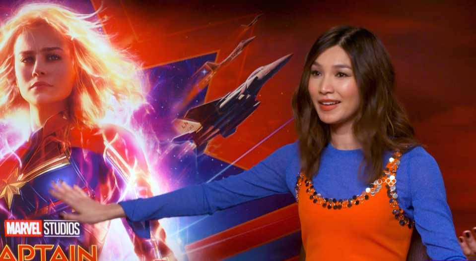 Captain Marvel star Gemma Chan on the online backlash against Captain Marvel's fight for inclusivity.