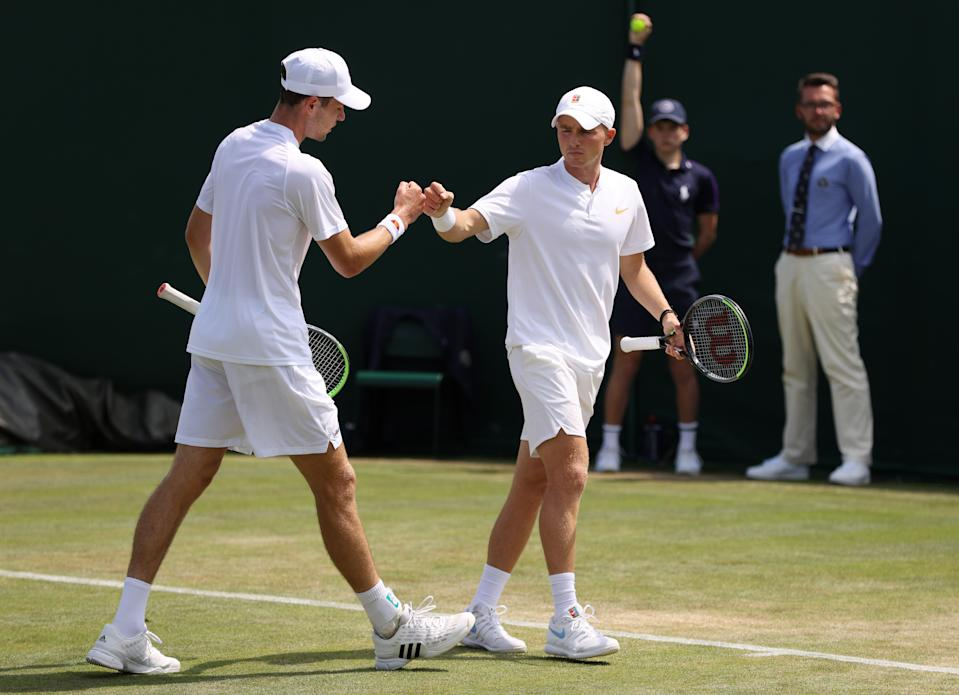 McHugh, 20, and Gray, 23, booked their place in the second round of the men's singles on Friday