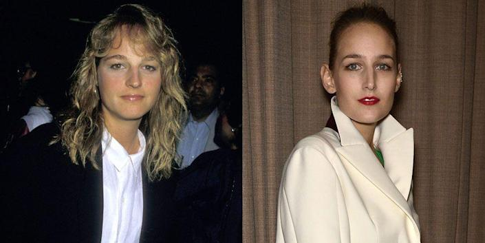 <p>The resemblance between Helen Hunt and Leelee Sobieski is remarkable. We think it's their oval face shape and serious stare.</p>