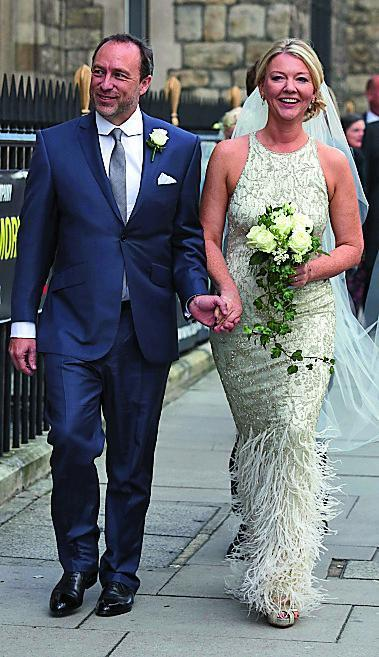 Love hearts: Jimmy Wales and Kate Garvey on their wedding day (Dwayne Senior /eyevine)
