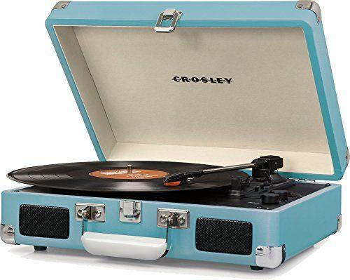 """<p><strong>Crosley</strong></p><p>amazon.com</p><p><strong>$74.95</strong></p><p><a href=""""https://www.amazon.com/dp/B01IWIBKGE?tag=syn-yahoo-20&ascsubtag=%5Bartid%7C2140.g.25752244%5Bsrc%7Cyahoo-us"""" rel=""""nofollow noopener"""" target=""""_blank"""" data-ylk=""""slk:Shop Now"""" class=""""link rapid-noclick-resp"""">Shop Now</a></p><p>It looks totally retro, but it plays three speeds and has adjustable pitch control, built-in stereo speakers, and a Bluetooth function. The best of both worlds.</p>"""