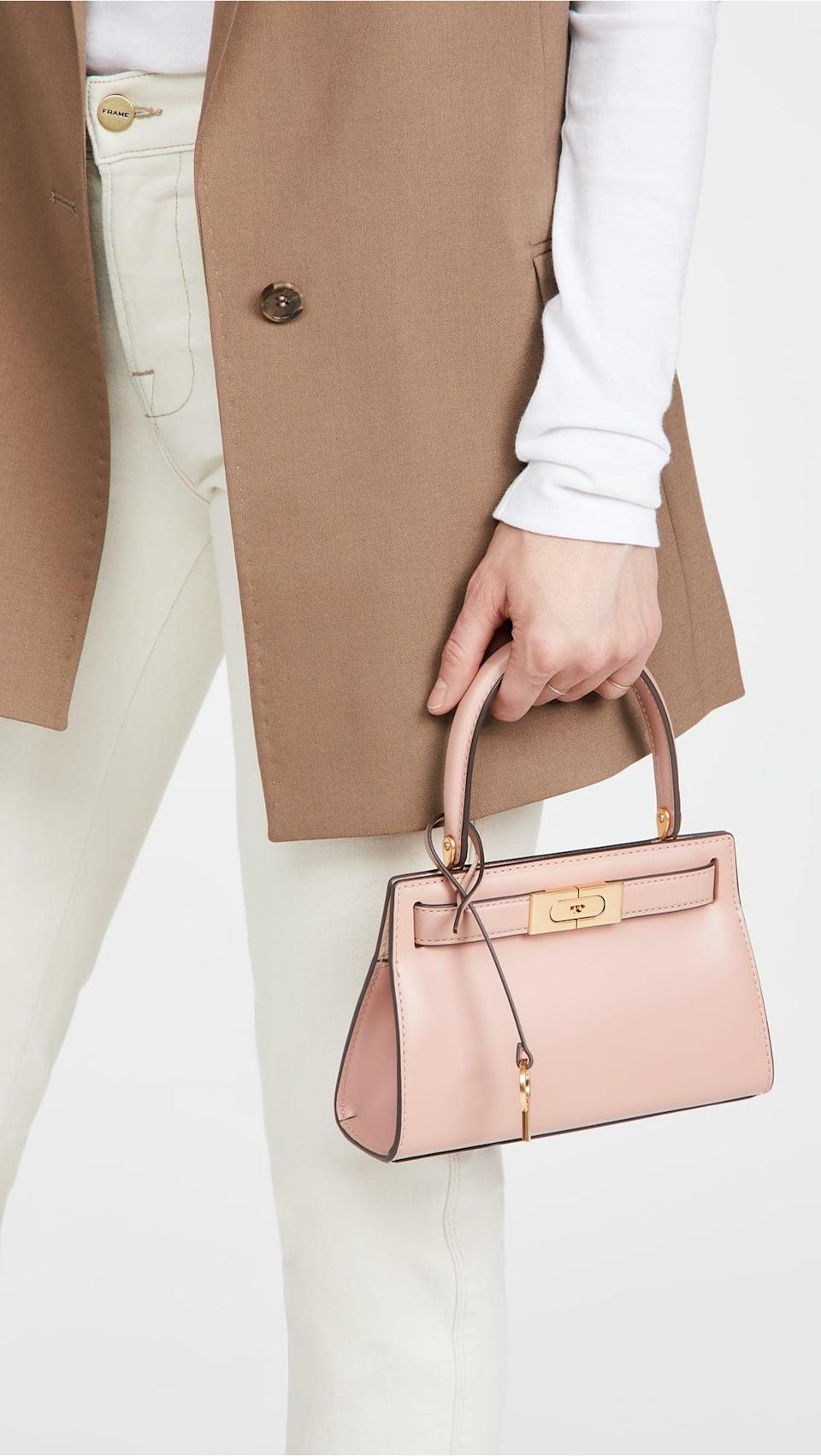 <p>This <span>Tory Burch Lee Radziwill Petite Bag</span> ($498) is timeless and elegant. Plus, the pink is adorable.</p>
