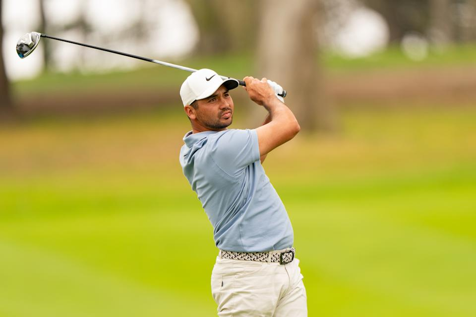 Jason Day shot an opening round 65 on Thursday for a share of the lead after one round at the PGA Championship at TPC Harding Park in San Francisco. (Photo by Darren Carroll/PGA of America via Getty Images)