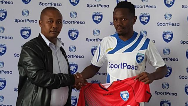 The former Mathare United man made a comeback to the team after signing a three-year contract