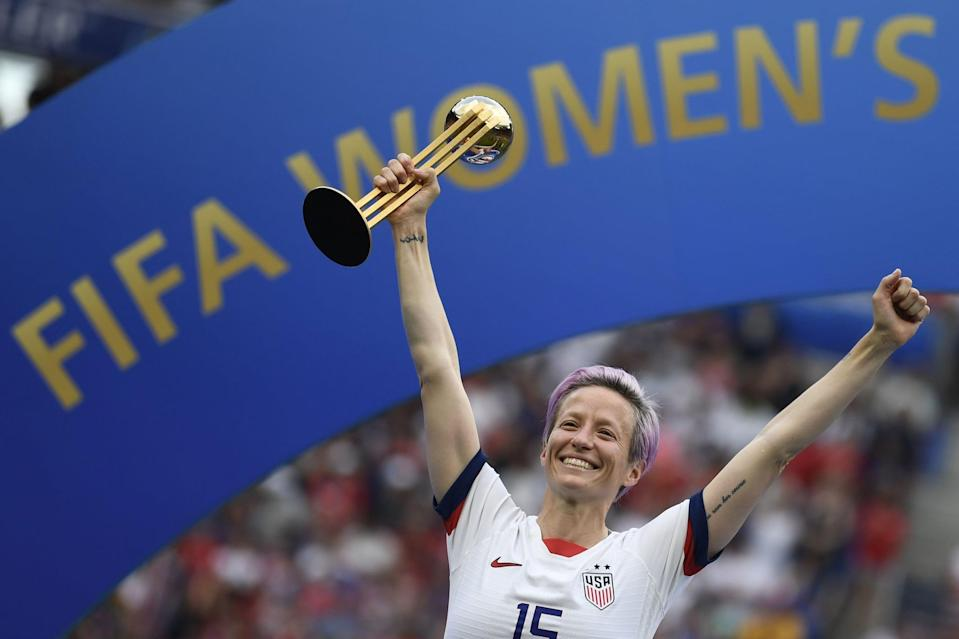 """<p>Rapinoe's memoir, <strong>One Life</strong>, came out in 2020 to <a href=""""https://www.popsugar.com/fitness/megan-rapinoe-one-life-memoir-review-47966251"""" class=""""link rapid-noclick-resp"""" rel=""""nofollow noopener"""" target=""""_blank"""" data-ylk=""""slk:rave reviews"""">rave reviews</a>, quickly becoming a <strong>New York Times</strong> bestseller. In the book, Rapinoe tells her life story, from growing up in Redding, CA, to coming out as gay in college, kneeling for the national anthem in 2016, and her continued work as an activist coming to terms with her own privilege.</p>"""