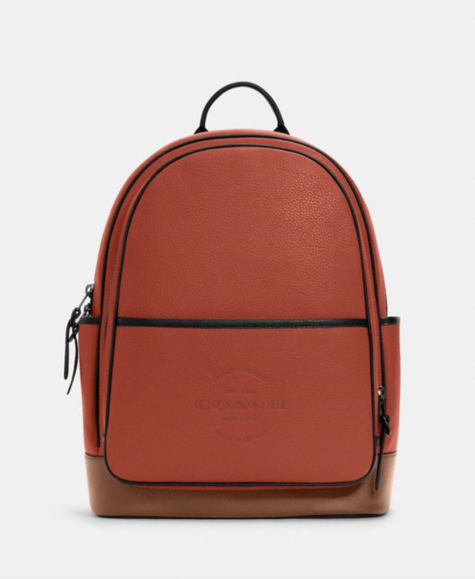 Thompson Backpack in Terracotta (Photo via Coach Outlet)