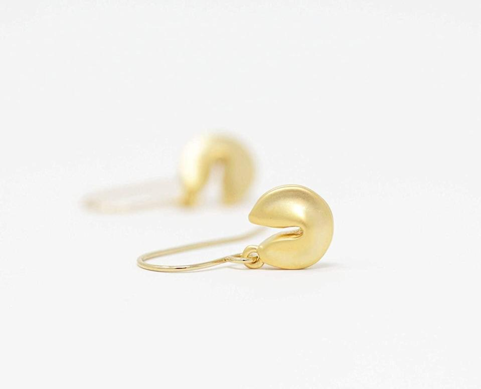 <p>These <span>Fortune Cookie Earrings</span> ($25) are so simple yet chic.</p>