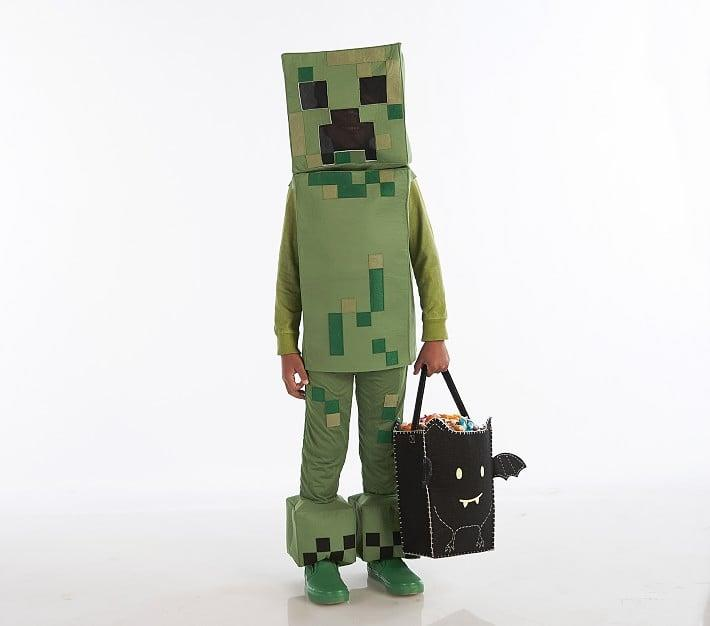 """<p>This totally cool <a href=""""https://www.popsugar.com/buy/Minecraft-Creeper-Costume-484937?p_name=Minecraft%20Creeper%20Costume&retailer=potterybarnkids.com&pid=484937&price=79&evar1=moms%3Aus&evar9=46551638&evar98=https%3A%2F%2Fwww.popsugar.com%2Fphoto-gallery%2F46551638%2Fimage%2F46551640%2FMinecraft-Creeper-Costume&list1=halloween%2Challoween%20costumes%2Challoween%20for%20kids%2Ckid%20halloween%20costumes&prop13=api&pdata=1"""" rel=""""nofollow"""" data-shoppable-link=""""1"""" target=""""_blank"""" class=""""ga-track"""" data-ga-category=""""Related"""" data-ga-label=""""https://www.potterybarnkids.com/products/minecraft-creeper-costume/"""" data-ga-action=""""In-Line Links"""">Minecraft Creeper Costume</a> ($79) from Pottery Barn Kids features eyes made with see-through mesh and a body woven from breathable, hypoallergenic fabric.</p>"""