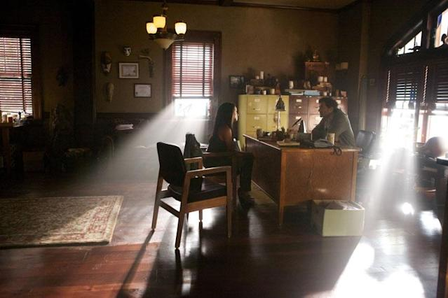 "Kat Graham as Bonnie and David Alpay as Professor Shane in ""The Killer,"" the fifth episode of ""The Vampire Diaries"" Season 4."