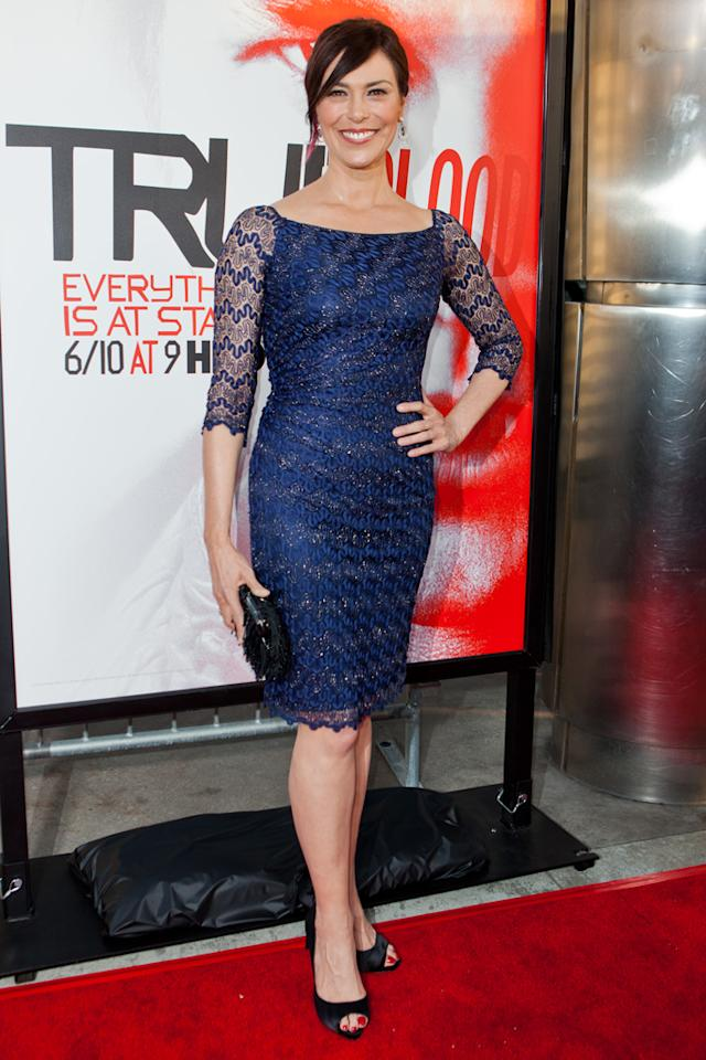 """Michelle Forbes attends HBO's """"True Blood"""" Season 5 Los Angeles premiere at ArcLight Cinemas Cinerama Dome on May 30, 2012 in Hollywood, California."""