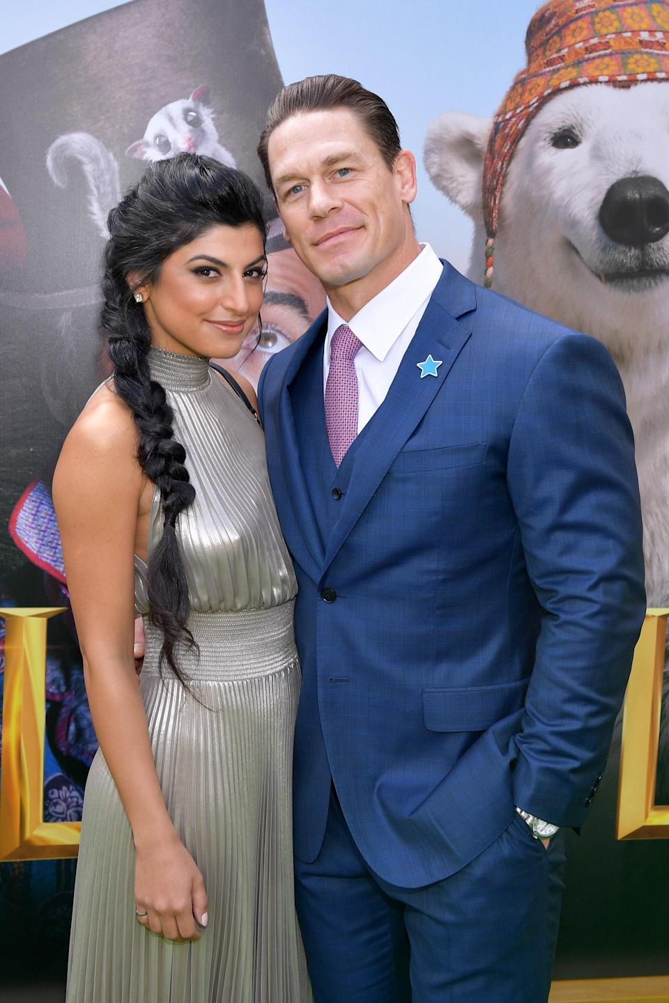 """John Cena and Shay Shariatzadeh <a href=""""https://www.tmz.com/2020/10/14/john-cena-marries-shay-shariatzadeh-marriage-license-filed/"""" rel=""""nofollow noopener"""" target=""""_blank"""" data-ylk=""""slk:reportedly"""" class=""""link rapid-noclick-resp"""">reportedly</a> wed in Florida on Monday, October 12, at an attorney's office in Florida. While the couple haven't responded to requests for comment, <a href=""""https://people.com/movies/john-cena-marries-shay-shariatzadeh/"""" rel=""""nofollow noopener"""" target=""""_blank"""" data-ylk=""""slk:People obtained"""" class=""""link rapid-noclick-resp""""><em>People</em> obtained</a> the marriage certificate. Cena and Shariatzadeh have been linked to each other since March 2019—it's his first public relationship since splitting from Nikki Bella in 2018."""
