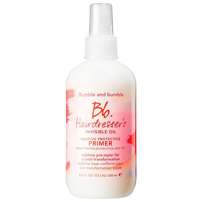 """<p><strong>Bumble and bumble</strong></p><p>sephora.com</p><p><strong>$28.00</strong></p><p><a href=""""https://go.redirectingat.com?id=74968X1596630&url=https%3A%2F%2Fwww.sephora.com%2Fproduct%2Fhairdresser-s-invisible-oil-primer-P386464&sref=https%3A%2F%2Fwww.harpersbazaar.com%2Fbeauty%2Fhair%2Fg35565643%2Fbest-leave-in-conditioners-for-natural-hair%2F"""" rel=""""nofollow noopener"""" target=""""_blank"""" data-ylk=""""slk:Shop Now"""" class=""""link rapid-noclick-resp"""">Shop Now</a></p><p>About to spend all day outside? Then you need UV protection. The filters in this leave-in actually keep your hair healthy and moisturized while you're frolicking under the sun. </p>"""