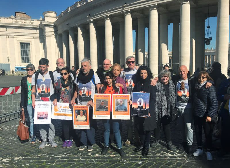 Deaf Argentine victims of clergy sexual abuse protest at Vatican