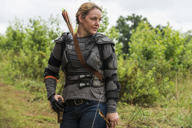 <p>Kerry Cahill as Dianne in AMC's <i>The Walking Dead.<br> (Photo: Gene Page/AMC)</i> </p>