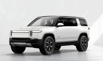 This photo from Rivian shows the 2022 Rivian R1S. The R1S is an electric midsize SUV and of two new electric vehicles from this startup American electric vehicle manufacturer. (Rivian Automotive via AP)